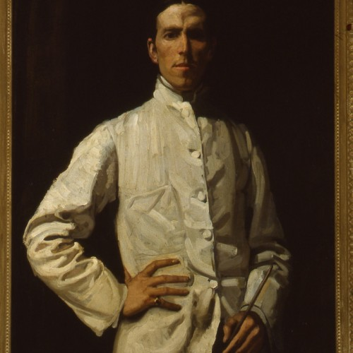 Self-portrait in white jacket 1901