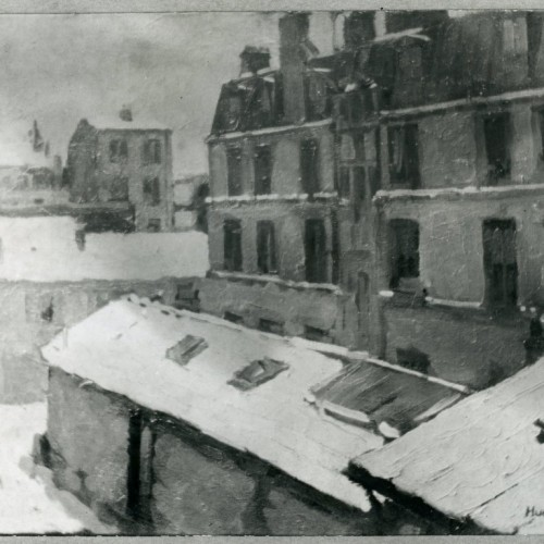 Snow in Paris 1901