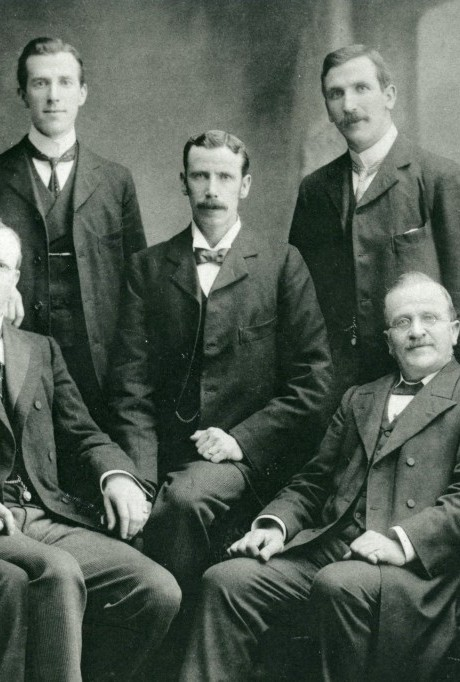 Hugh with father and brothers c1896