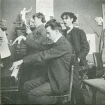 Ramsay playing piano at a party in Paris studio  1901